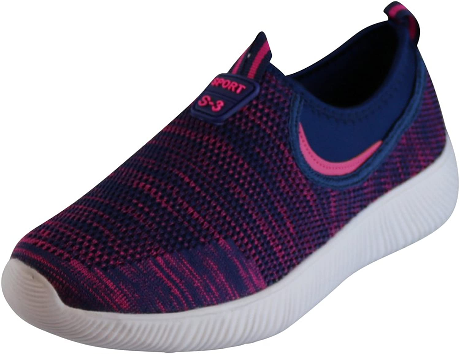 Cambridge Select Women's Closed Toe Stretch Breathable Lightweight Mesh Casual Sport Slip-On Fashion Sneaker