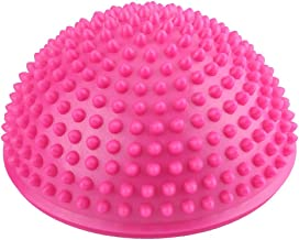 Foot Massage Half Ball Balance Exercise Pods Spiky for Deep Tissue Foot Muscle Therapy (Color : Pink)