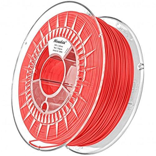 Minadax 0,75kg qualità premium 3mm (2,85mm) Hips Filament rosso per stampante 3d prodotto in Europa