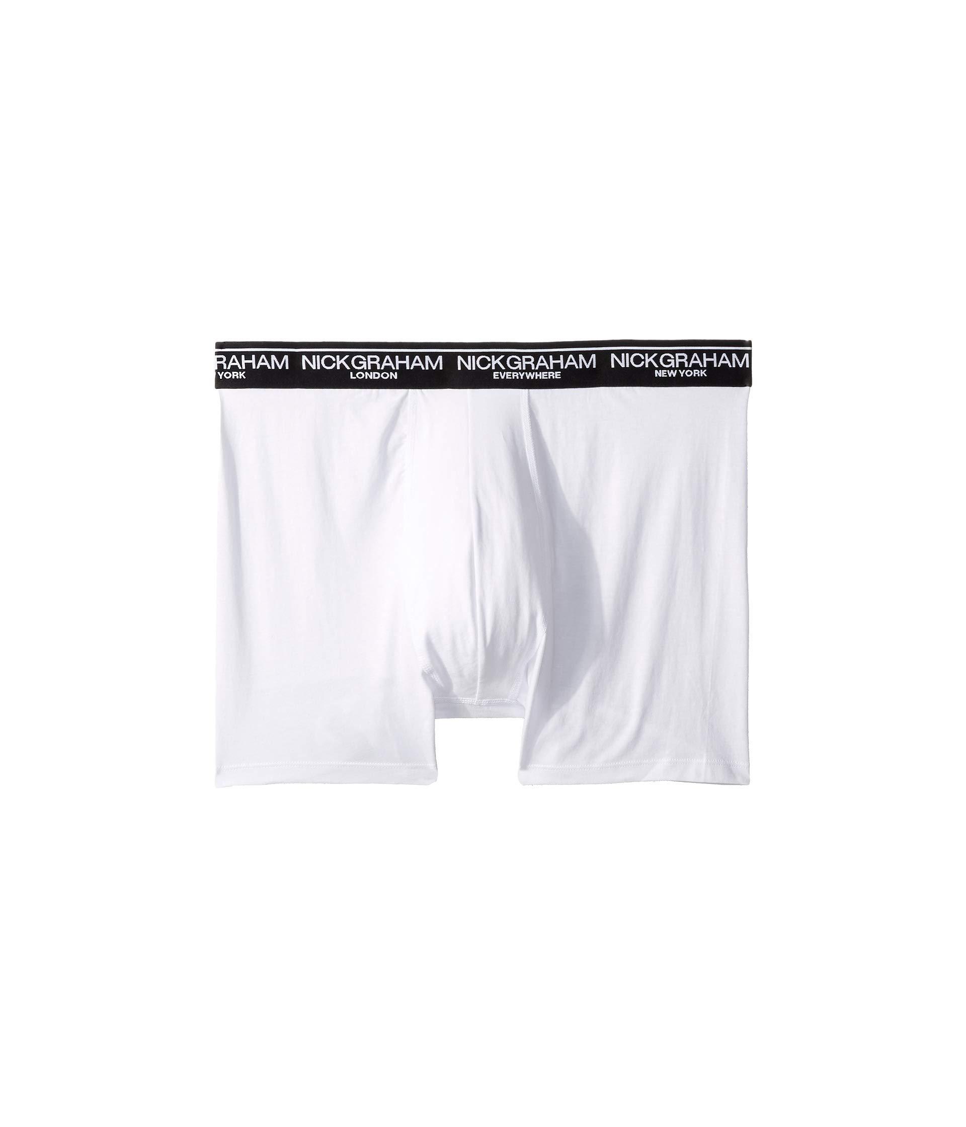 3 White Brief Nick Graham Cotton Boxer pack C0BqUw