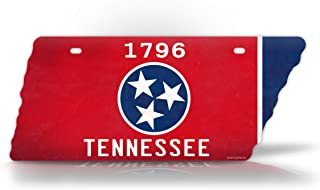 SignsAndTagsOnline Antique TN State Flag License Plate Vintage State Shaped Replica Tennessee Auto Tag
