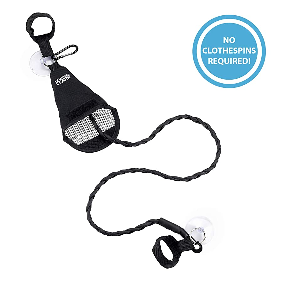 Lewis N. Clark Adjustable Latex Clothesline For Hotel Travel, Camping + Laundry Room, No Safety Pins Needed, Small Enough To Store In Laundry Basket, Backpack, Or Camping Gear