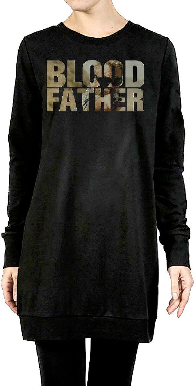 Blood Father Women's Long Crewneck Sweater Black