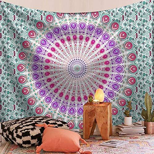 ZHANGXIANG Tapestry Wall Hanging Mandala Hippie Gypsy Bedspread Throw Bohemian Covers/M/L 1Pcs-E_S(75X73Cm)