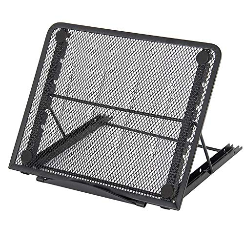 willkey A4 Light Box Stand Ventilated Adjustable Drawing Pad Cooling Stand Large Version Foldable Portable Tablet Laptop Holder for 10'~13' Notebooks 24×19×1.5cm Black