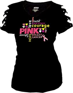 breast cancer t shirts with rhinestones