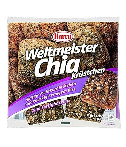 10 Beutel Harry Brot Weltmeister Chia Krüstchen 4 Stück zum Fertigbacken 360g