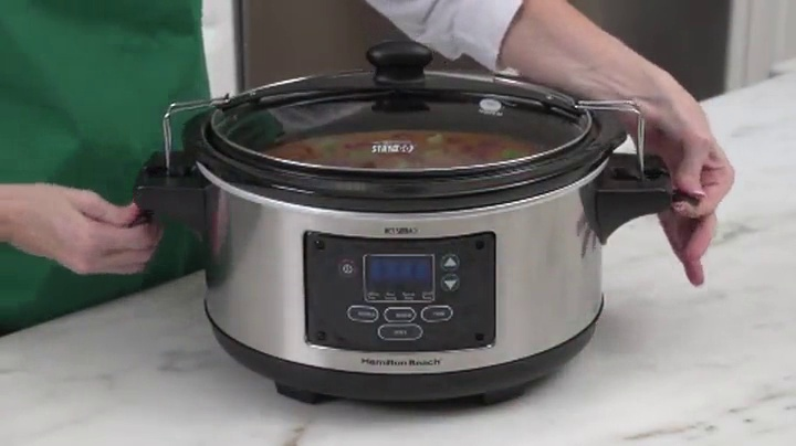 Hamilton-Beach-Portable-6-Quart-Set-Forget-Digital-Programmable-Slow-Cooker-With-Temperature-Probe-Lid-Lock-Stainless-Steel-33969A