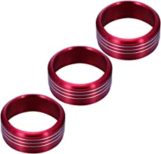 WINOMO Air Condition Button Covers 3pcs Red Anodized Aluminum AC Climate Control Knob Ring Covers For Subaru WRX STI Impreza Forester XV Crosstrek (Red)