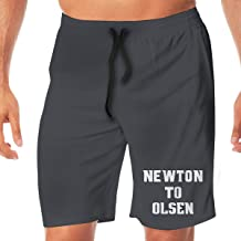 Men's Swim Trunks Quick Dry Blue Carolina Newton to Olsen Surfing Beach Board Shorts with Two Pockets