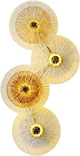 Sconce/Wall Sconces Wall Lamp 4 Head Lotus Leaf Iron Art Fixed Lamp Wall Lamp Living Room Bedroom Background Wall Modern C...