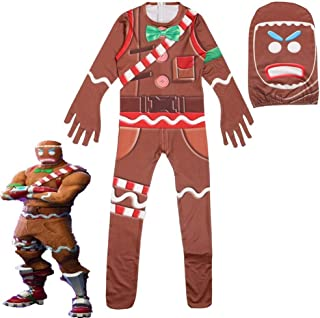 Kids Gingerbread Man Skull Trooper Skin Decoration Boys Character Clown Cosplay Clothes Halloween Costumes Christmas Costume