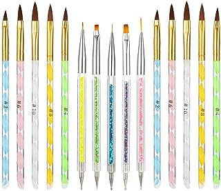 hi桜の花 ネイルブラシ ジェルネイル 筆 ネイル筆15本 カラードットペン 初心者 プロにも最適 塗装ペン ネイルアートブラシセット ネイル筆 ジェル ネイル 用品 道具