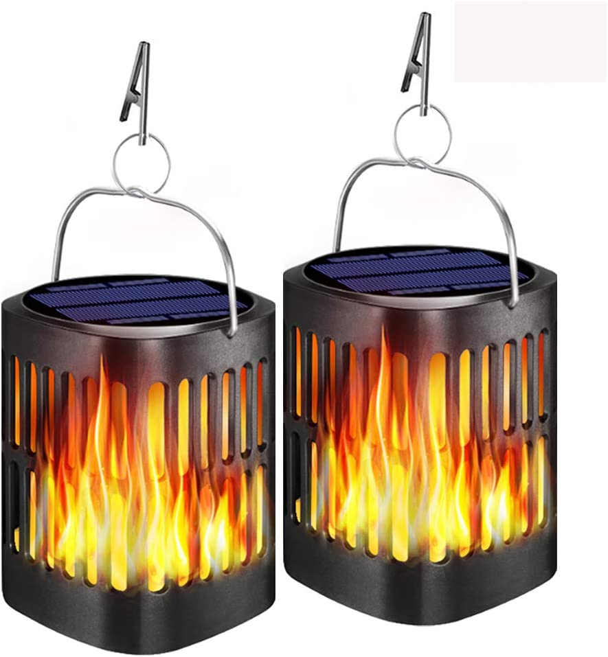 Popularity Ollivage Max 58% OFF Hanging Solar Lights Flame Outdoo Dancing
