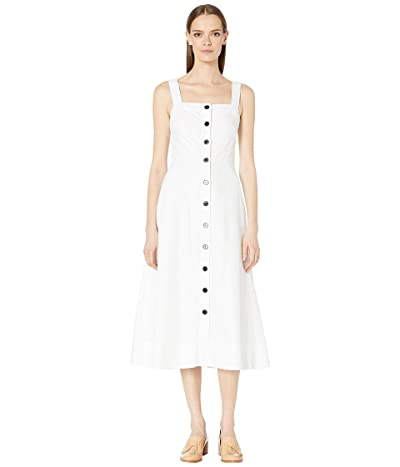 Kate Spade New York Button Front Midi Dress (Fresh White) Women