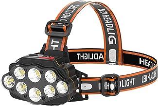 XINGTAO Hoofd Torch Krachtige 8 LED Koplamp USB Oplaadbare Koplamp Waterdichte Hoofd Licht Outdoor Night Vissen Hoofd Voor...