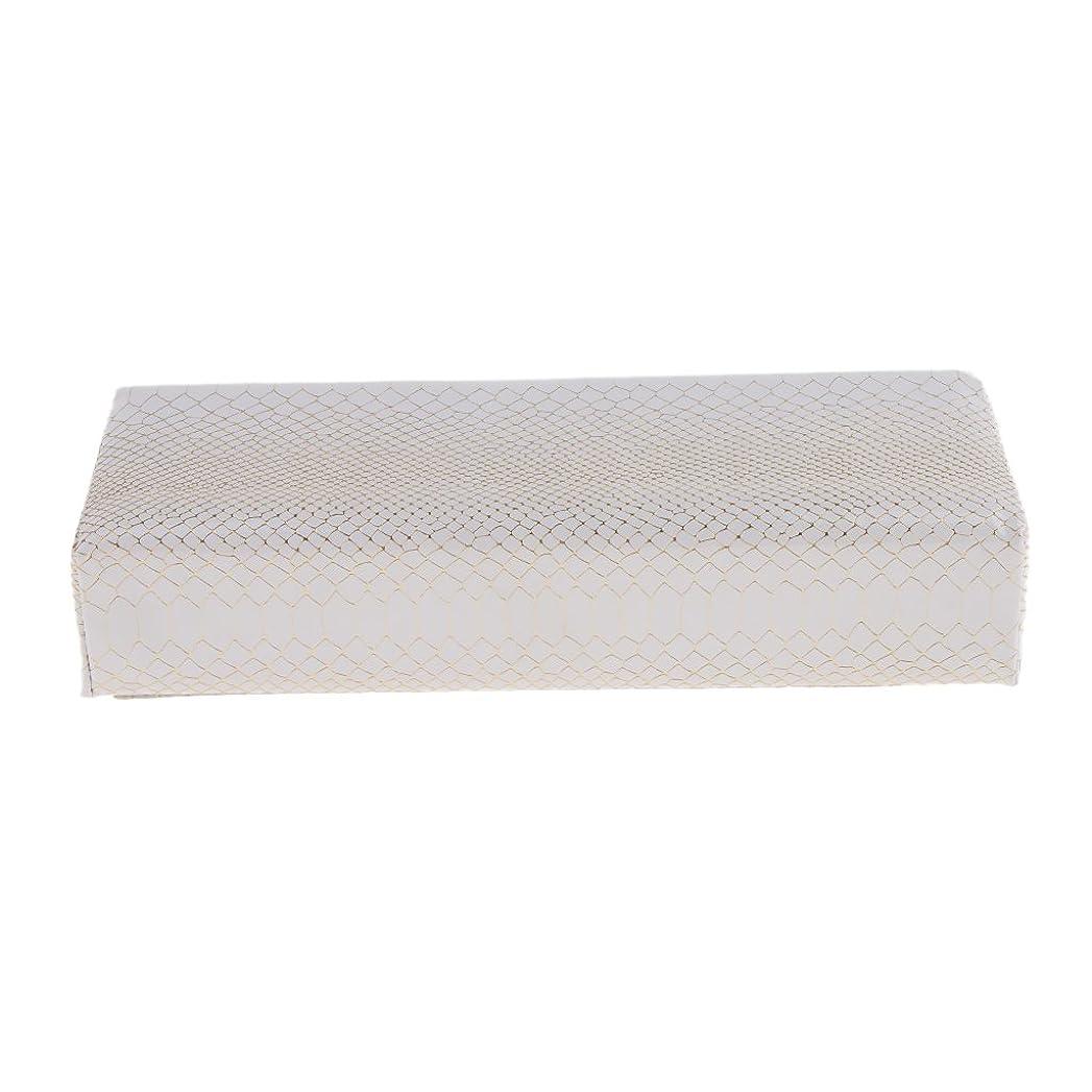不安定なり海外Fenteer ハンドピロー 枕 ネイルアート アーム クッション プロ ネイルサロン プレミアム PUレザー 使いやすい 快適 多色選べる - 白