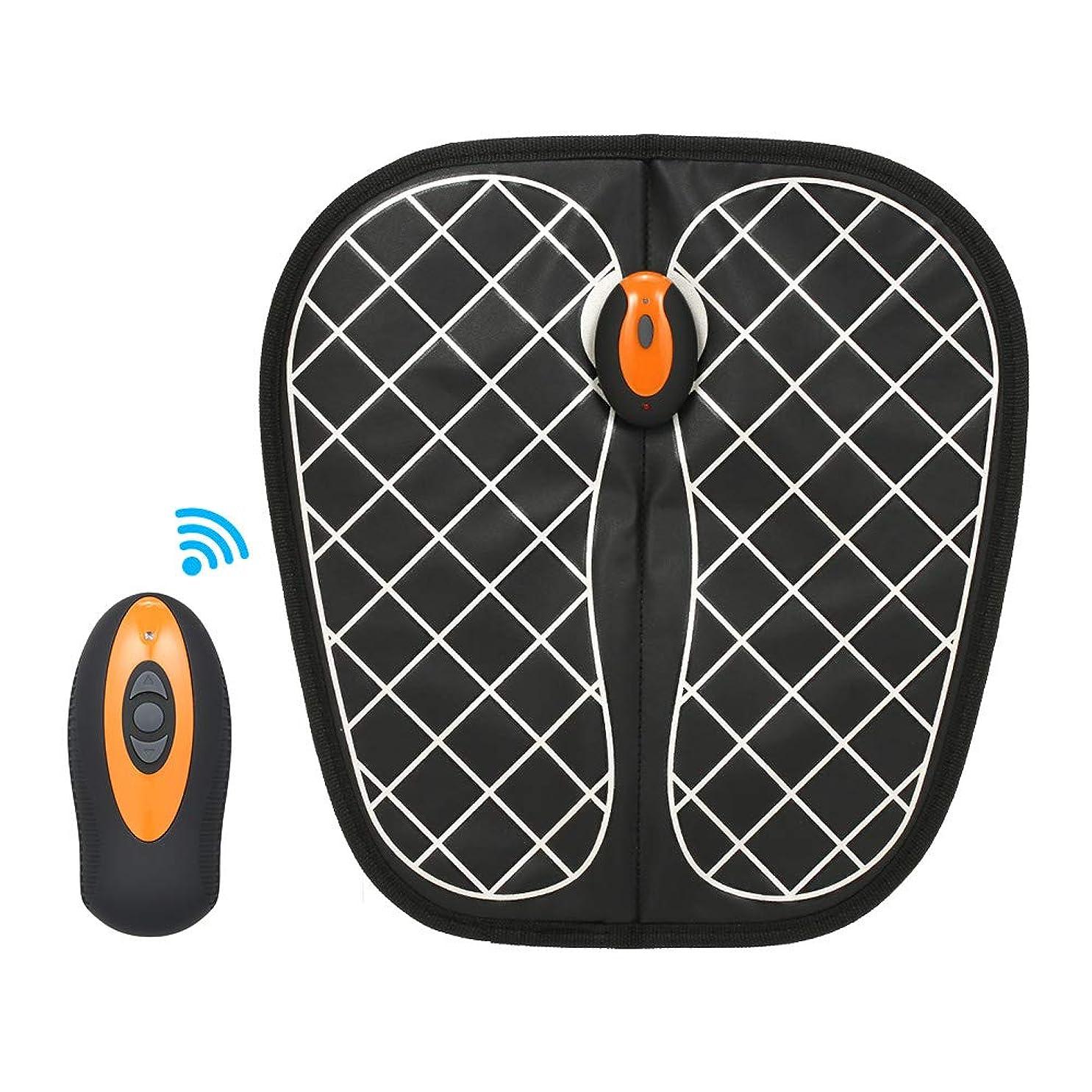 敏感な人気野生Decdeal EMSフットマッサージャー フットマッサージャー 足用 充電式 マッサージ器 USB充電 操作簡単 持ち運び便利 ブラック