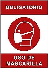Señal Covid-19 | Cartel Uso Obligatorio de Mascarilla para Establecimientos y Lugares Públicos | Señalización Coronavirus Autoinstalable | 21 x 30 cm | Descuentos por Cantidad