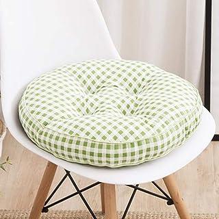 Cojín redondo de algodón para asiento de silla, cojín grueso para silla para interior, comedor, exterior, jardín, oficina, coche, cojín de apoyo (estilo 3,40 x 40 cm)