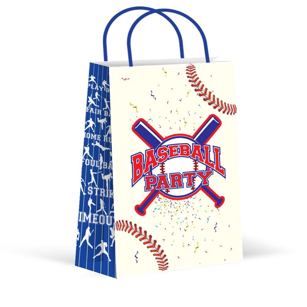 LARZN 高级棒球派对袋,装饰袋,新品,礼品袋,好袋,棒球派对礼品,棒球派对用品,运动装饰,12 包