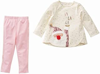 Mud Pie Womens Christmas Santa Tunic and Leggings Two-Piece Playwear Set (Toddler)