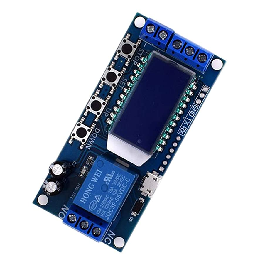TOOGOO Micro Usb Digital Lcd Display Time Delay Relay Module Dc 6-30V Control Multifunction Timer Switch Trigger Cycle Module Board