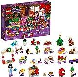 LEGO 41420 Friends Calendario de Adviento Navidad 2020, Miniset de Contrucción con Emma, Elves y Taller de Papá Noel