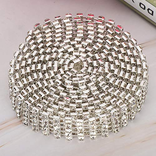 Sturdy and Durable Crystal High Quality Sparkling Crystal Decoration Chain, Chain, Headband Suits Cake or Wedding Party Cellphone case