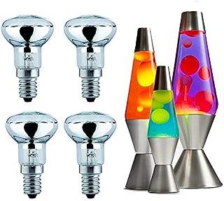 Lilon Paquete de 4 bombillas reflectoras regulables de 30 W R39 (SES) E14 pequeña rosca Edison, bombillas de repuesto Lava para lámparas de lava y lámparas con purpurina.