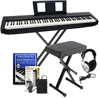 $570 Get Yamaha P45 Digital Piano Education Bundle, Black with Yamaha Accessories and Headphones