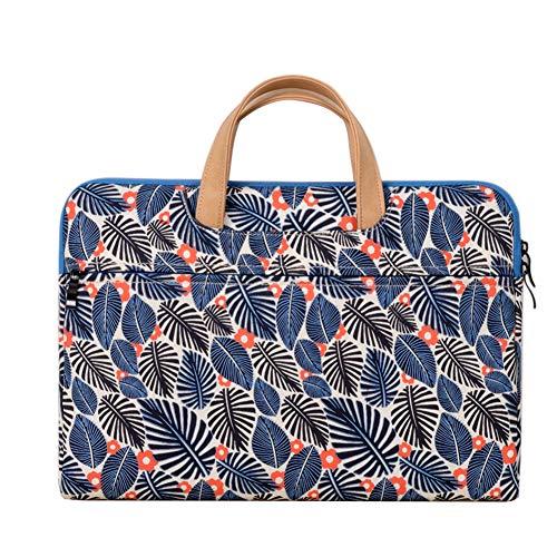 11,6-15.6 Pulgadas Multifuncional portátil Bolsa maletín portátil de Ordenador portátil Caso Portador de la Ordenador portátil Messenger Caso,Azul,15.6