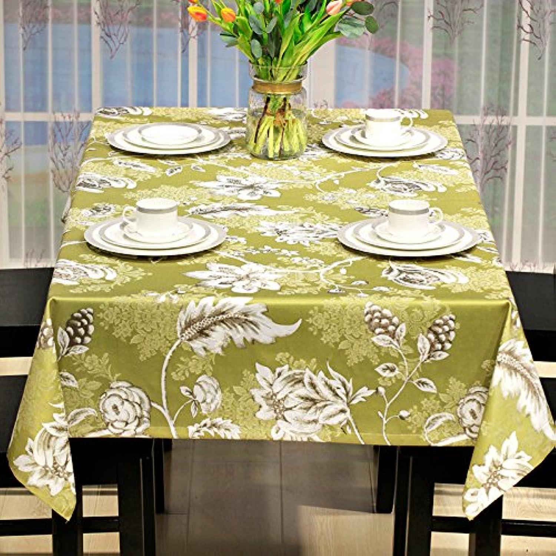 WFLJL Country Stil Restaurant Tischdecke Tuch Abdeckung Hotel Esstisch Wohnzimmer Couchtisch Gelb 135  200cm
