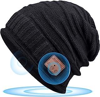 Bluetooth 5.0 Gorro Regalos Originales para Mujer - Musical Gorro Invierno Hombre & Mujer Regalos Navidad, Gorro Slouch Be...