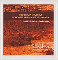 Musica Para Viola Sola De Autores Valencianos