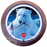 Neonetics Drinks Coca Cola Polar Bear Neon Wall Clock, 15-Inch