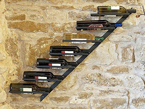 DanDiBo Weinregal Diagon Links 100cm aus Metall Flaschenhalter Flaschenständer Wandregal