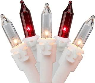 red white xmas lights