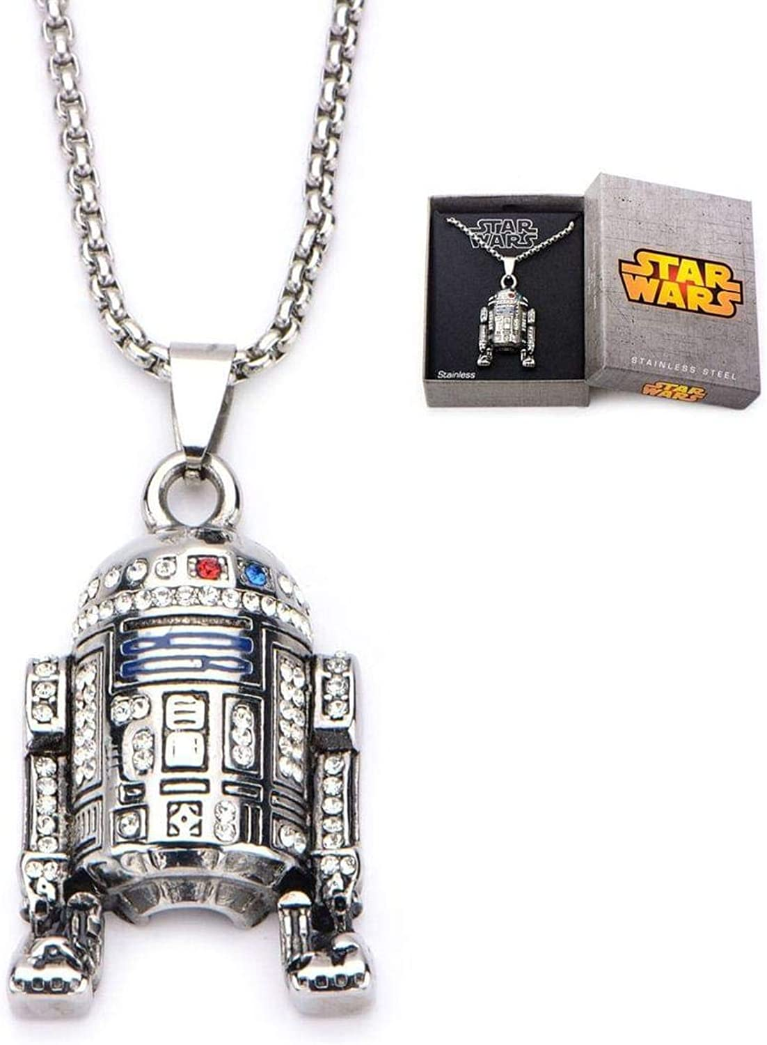 Star Wars VII  The Force Awakens R2D2 Pendant Necklace