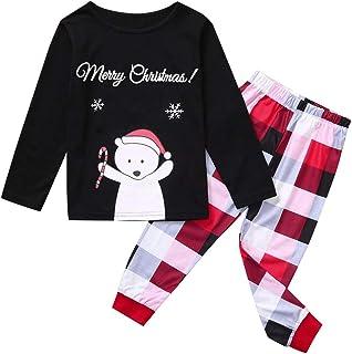 1-12 Años,SO-buts Navidad Niños Niña Niño Chándal Dibujos Animados Copo De Nieve Top + Pantalones Navidad Ropa Familiar Pi...
