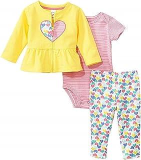 Carter's Girls' Cardigan Sets Size Newborn, Yellow, Newborn Baby