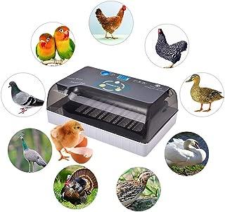 Incubadora de huevos con volteo y eclosión automáticos, incubadora de huevos para gallinas, patos, gansos, codornices, uso doméstico, etc. Iluminación LED de alta eficiencia, 4-35 huevos