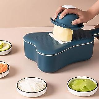 Coupe-légumes Trancheuse Cutter,Multifonction Food Cutter Trancheur de Mandoline avec 6 Lames/Panier de Vidange,Cuisine Co...