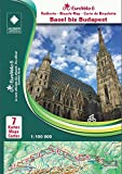 EuroVelo 6 (Basel - Budapest) 1: 100 000: 7 Fahrradkarten in einem Set / Cycle Map Set (7 Maps) 1:100 000