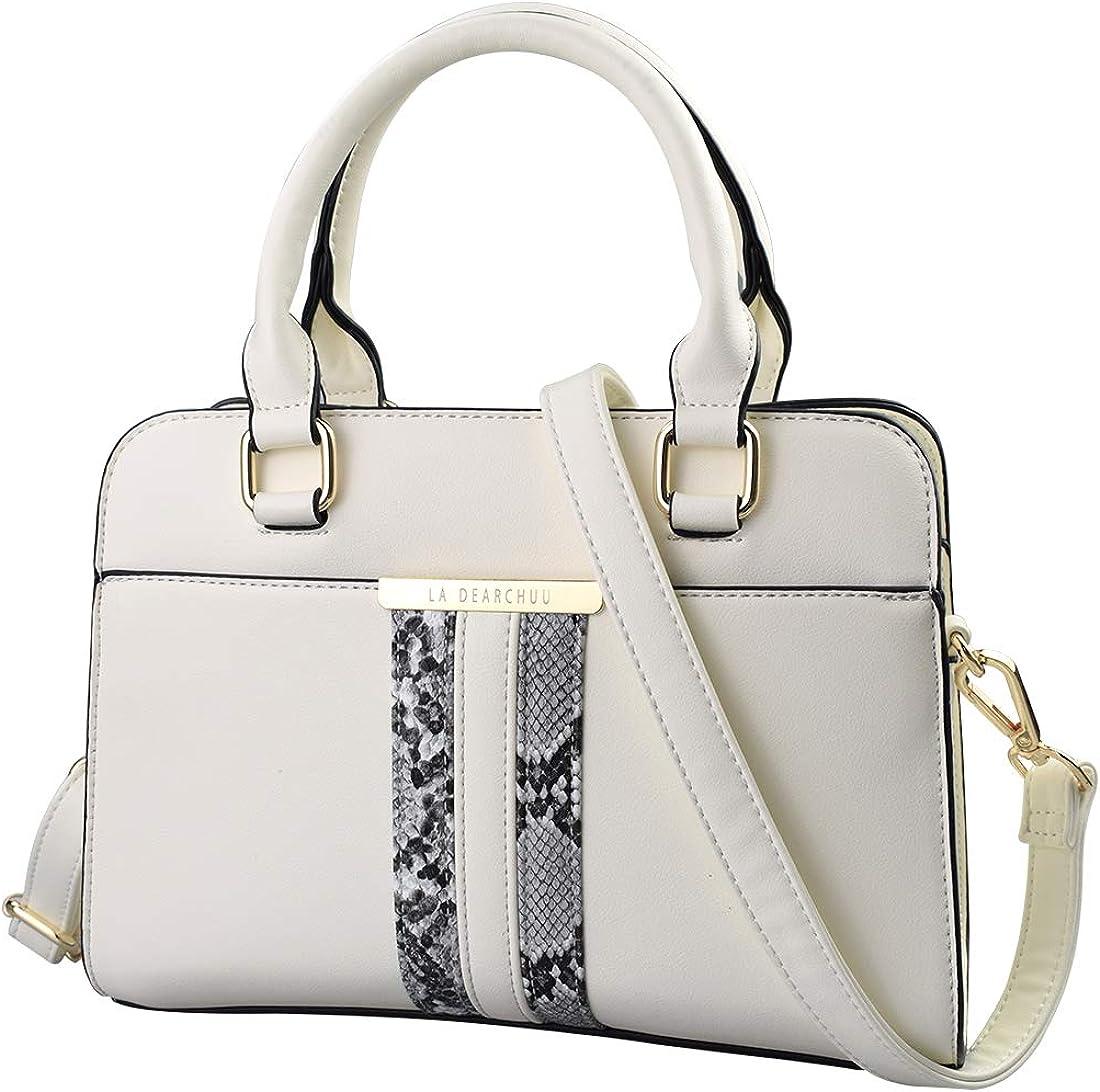Snakeskin Print Handbag Purses for Women Top Handle Satchel Shoulder Bags Work Tote Small Leather Crossbody Bag