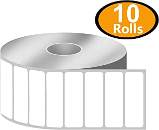 "BETCKEY - 1.5"" x 0.5"" File Folder & Address Labels Compatible with Zebra & Rollo Label Printer,Premium Adhesive & Perforated[10 Rolls, 23500 Labels]"