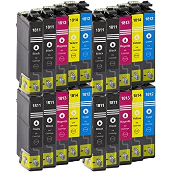 eh t1811-14 Cartuchos de tinta para Epson xp30 xp33 xp102 xp202 100/% comp