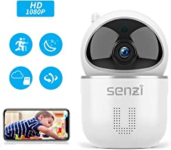 Wireless IP Camera - Senzi Security Camera 1080P Baby Monitor Pet Smart Auto Tracking Night Vision Motion Sound Detection 2.4GHz WiFi Pan Tilt Zoom Surveillance Camera Two-Way Audio Cloud Service