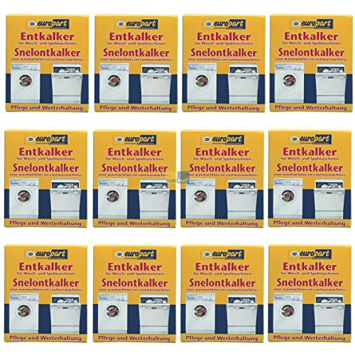 SET 12x ORIGINAL Europart 811714 10007690 Pflege Entkalker Schnellentkalker Zitronensäure Reiniger Kalk Kalkablagerung Waschmaschine Spülmaschine Geschirrspüler zur Pflege und Werterhaltung