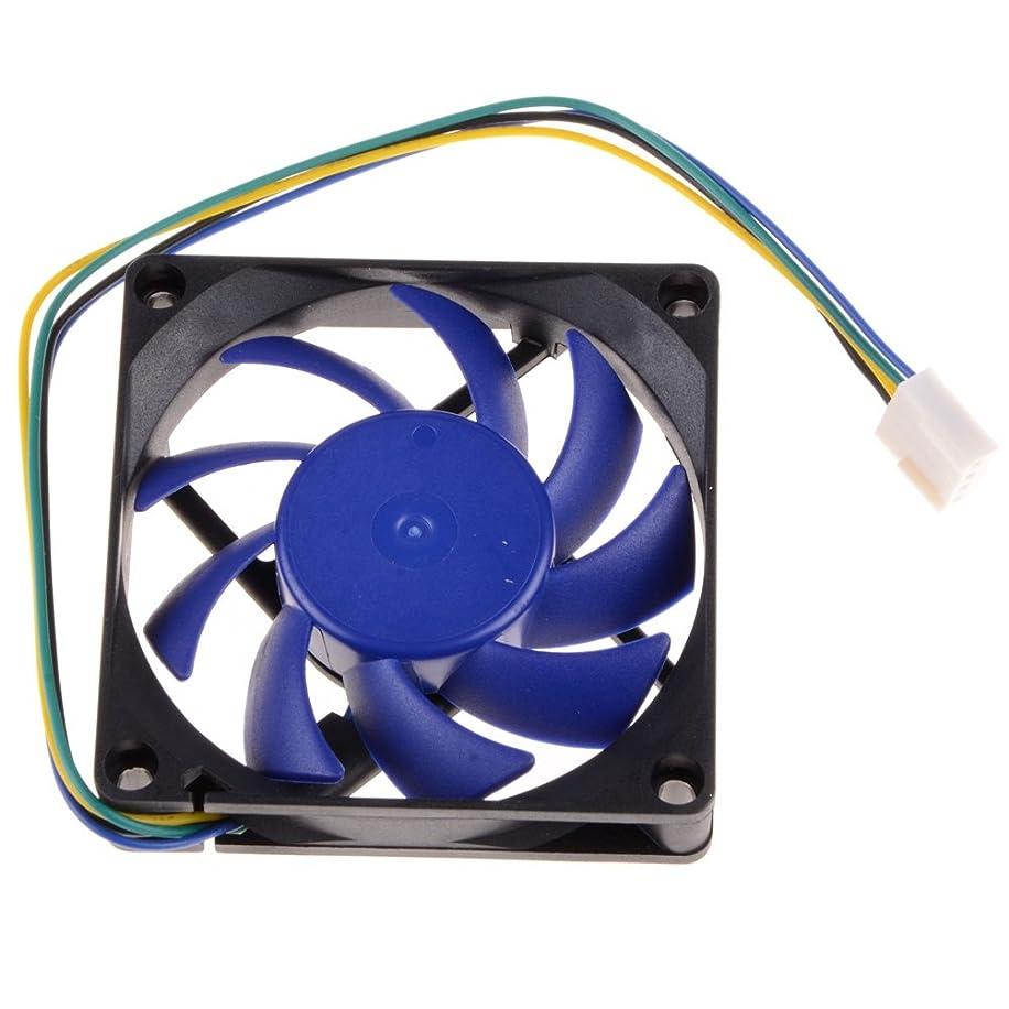 FSSR CPU Cooler Cooling Fan AMD HeatSink Hydraulic Detachable Blades 4Pin 7CM 70mm Black/Blue